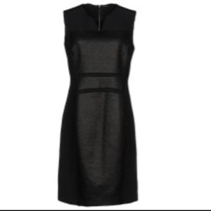 Elie Tahari Contrast Coated Tweed Sleeveless Dress